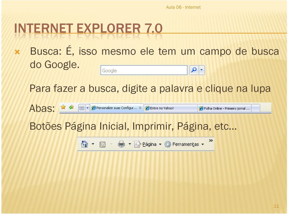 busca do Google.