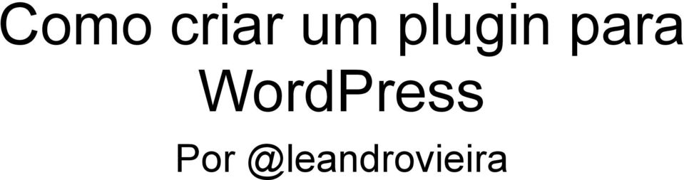 WordPress Por