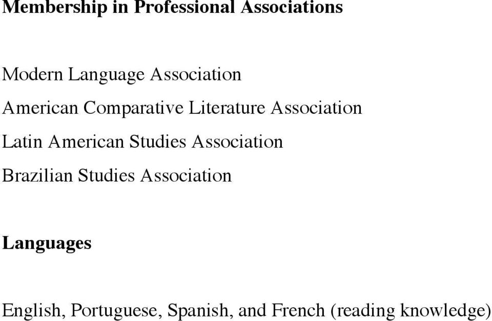 American Studies Association Brazilian Studies Association