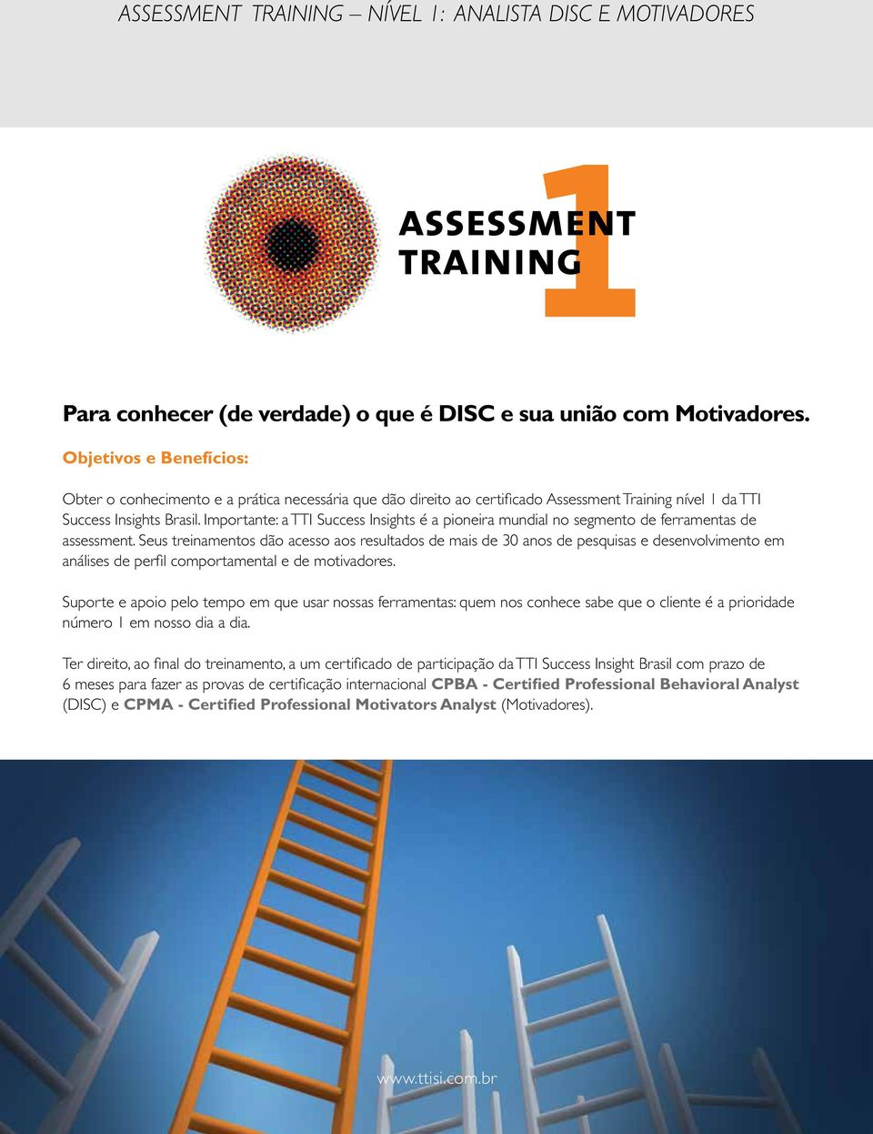 Importante: a TTI Success Insights é a pioneira mundial no segmento de ferramentas de assessment.