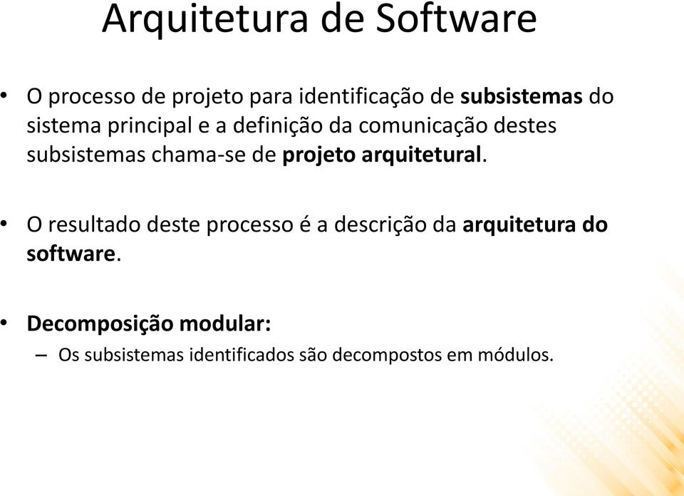 projeto arquitetural.