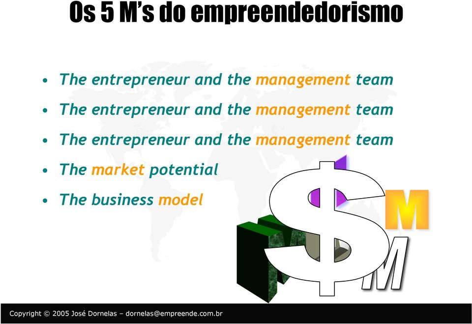 the management team The entrepreneur and the