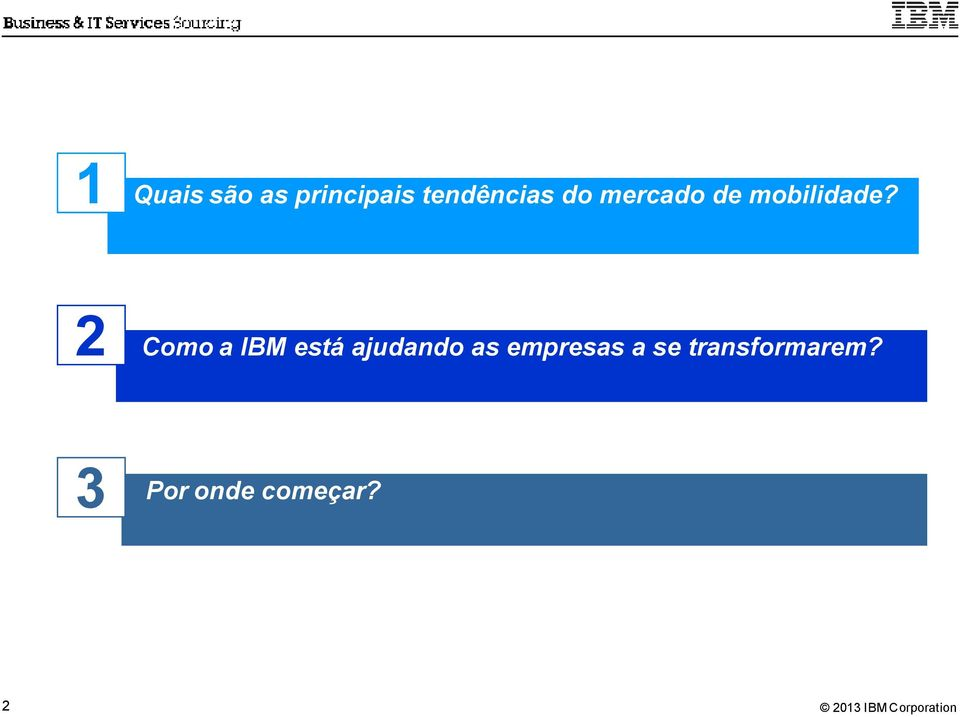 2 Como a IBM está ajudando as
