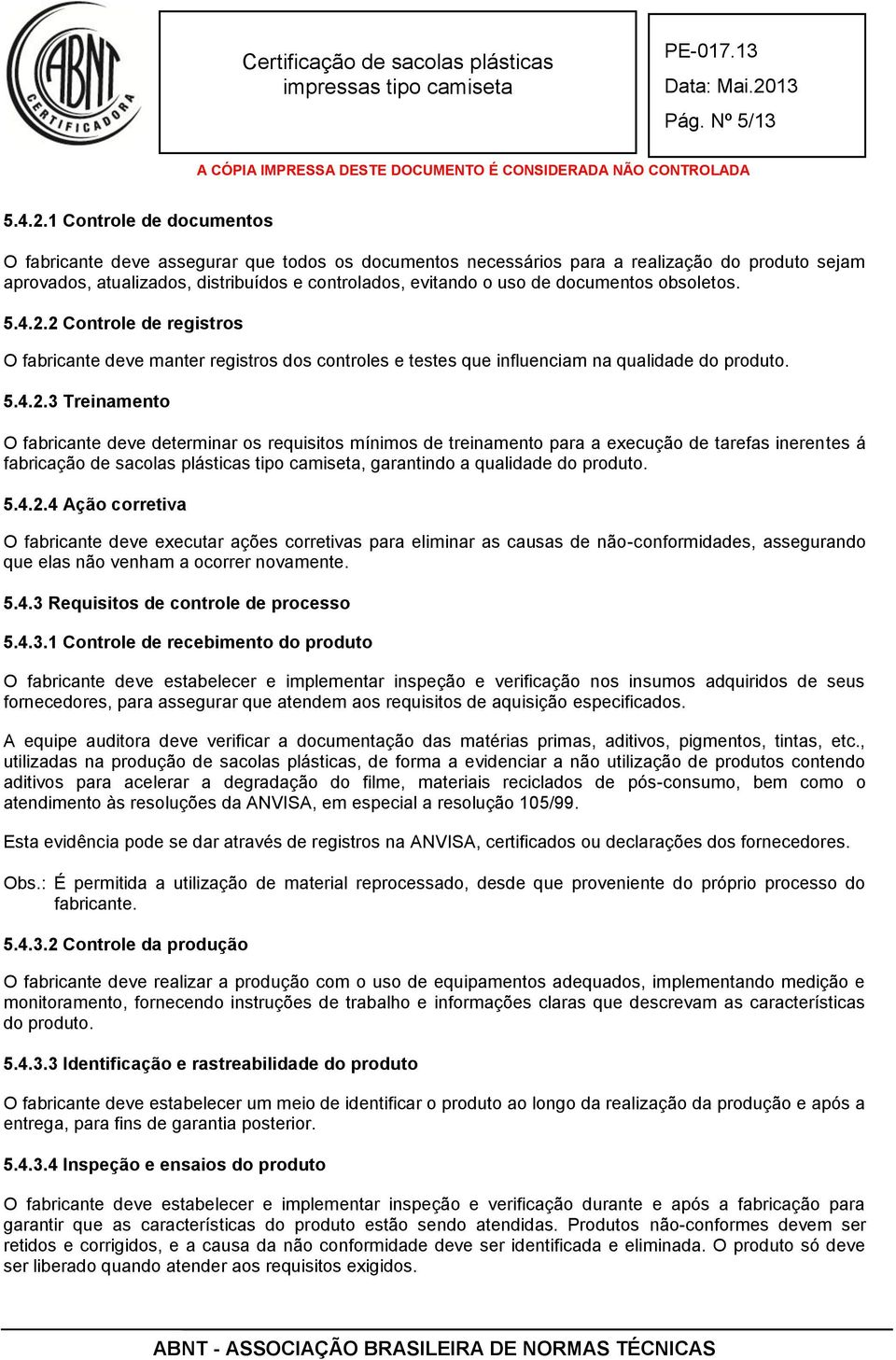 documentos obsoletos. 5.4.2.