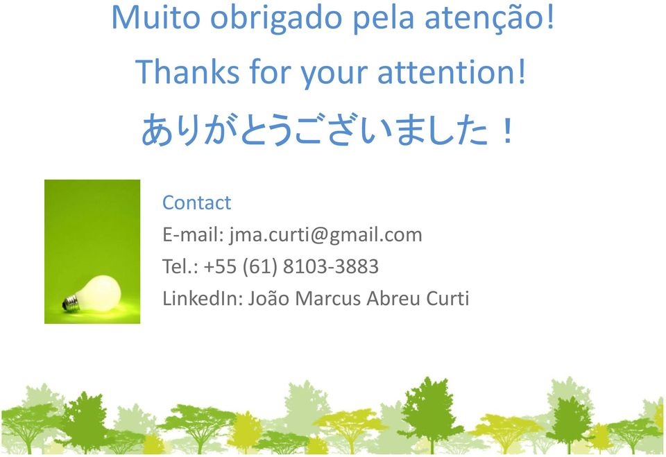 Contact E-mail: jma.curti@gmail.com Tel.