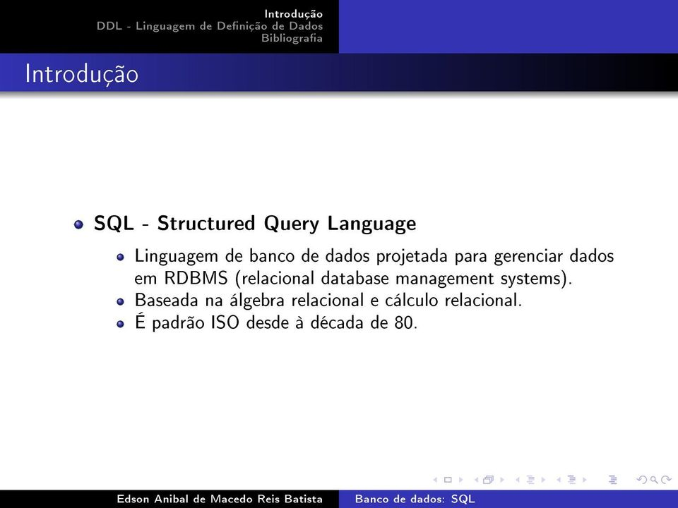 (relacional database management systems).