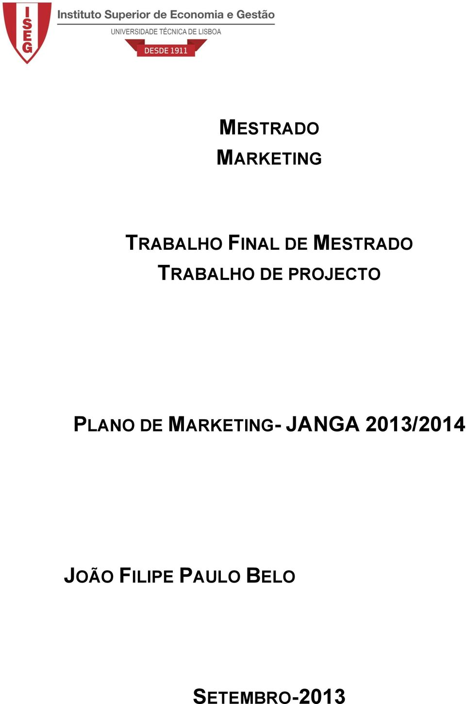 PLANO DE MARKETING- JANGA
