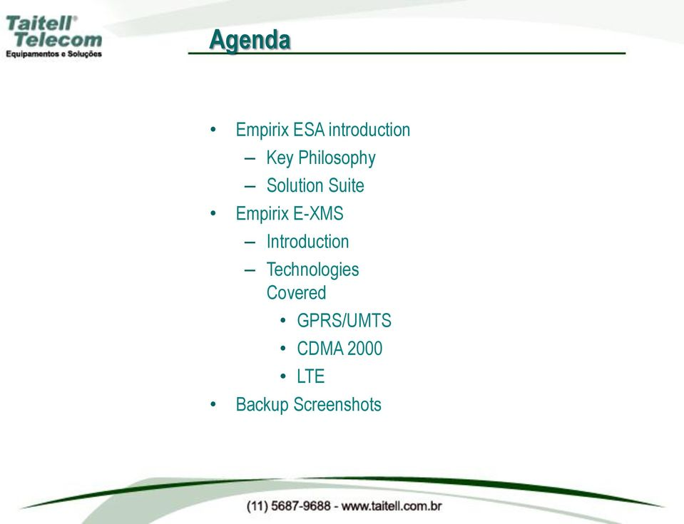 E-XMS Introduction Technologies