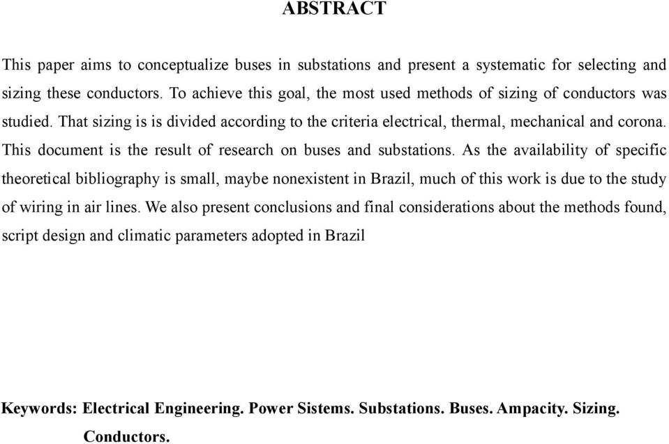 This document is the result of research on buses and substations.