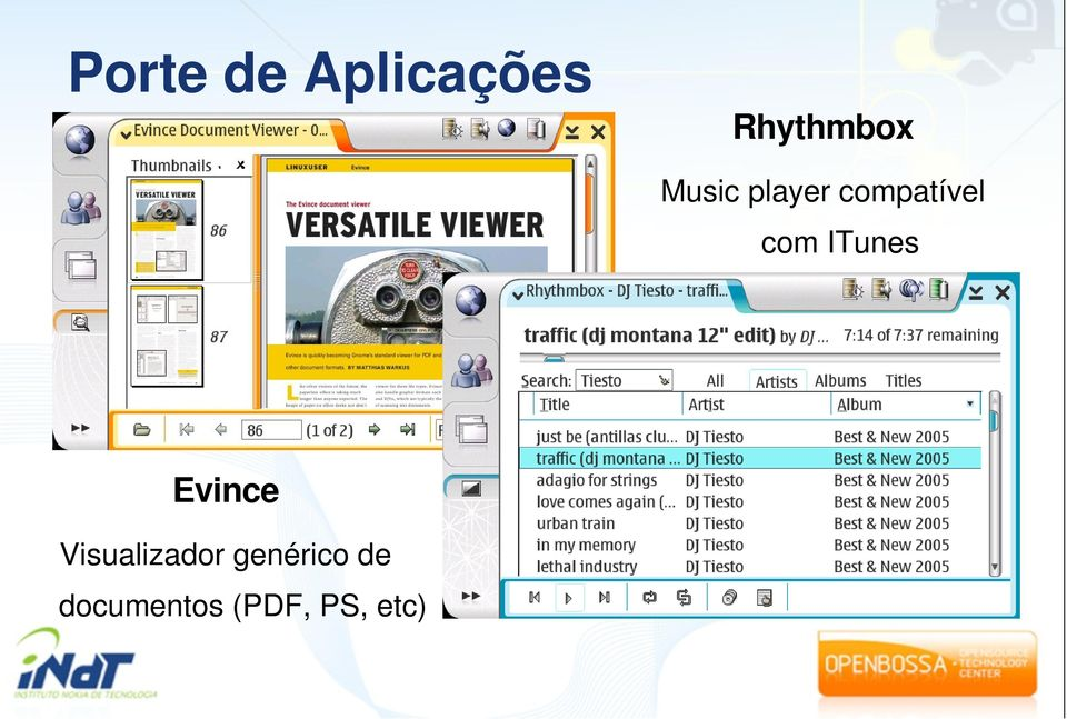 ITunes Evince Visualizador