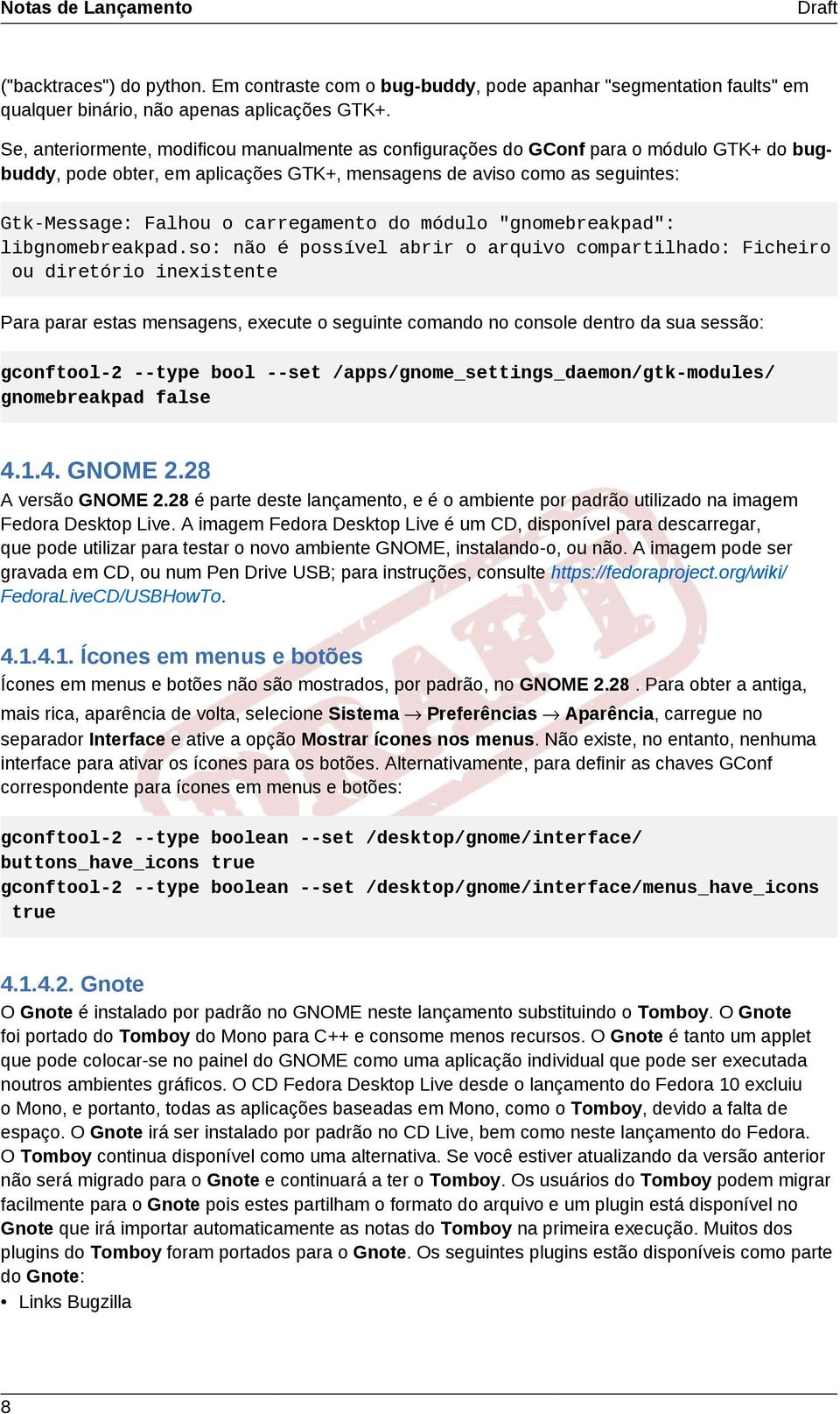 "carregamento do módulo ""gnomebreakpad"": libgnomebreakpad."
