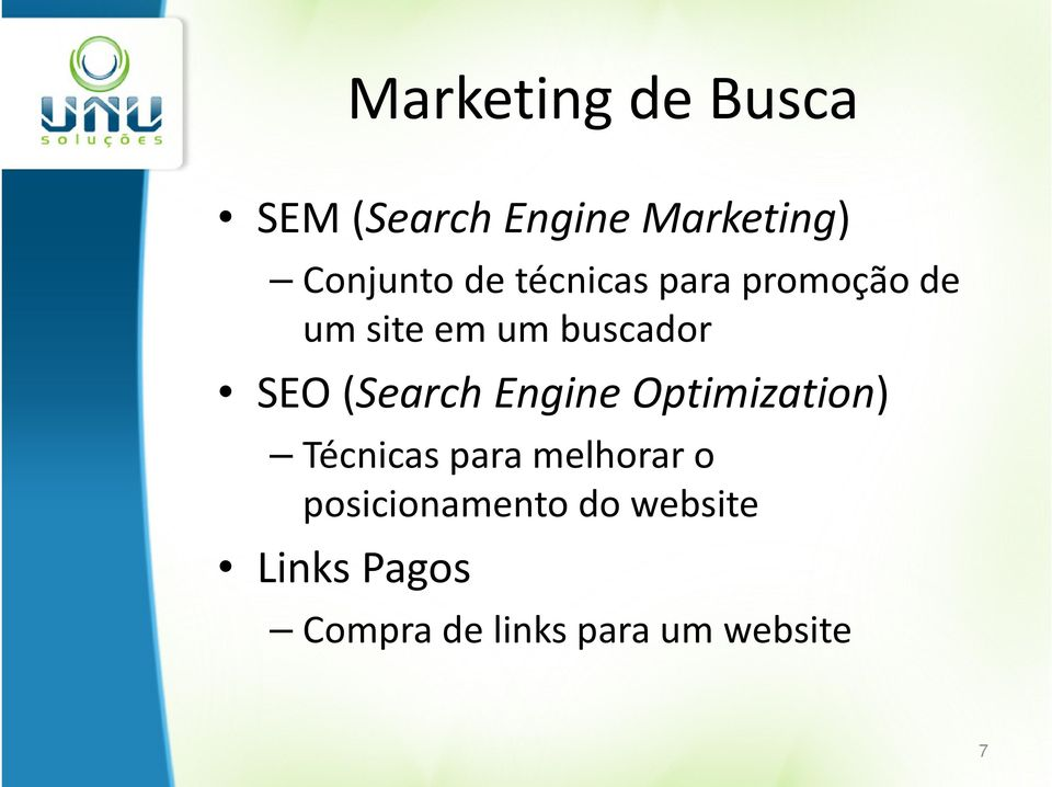 (Search Engine Optimization) Técnicas para melhorar o