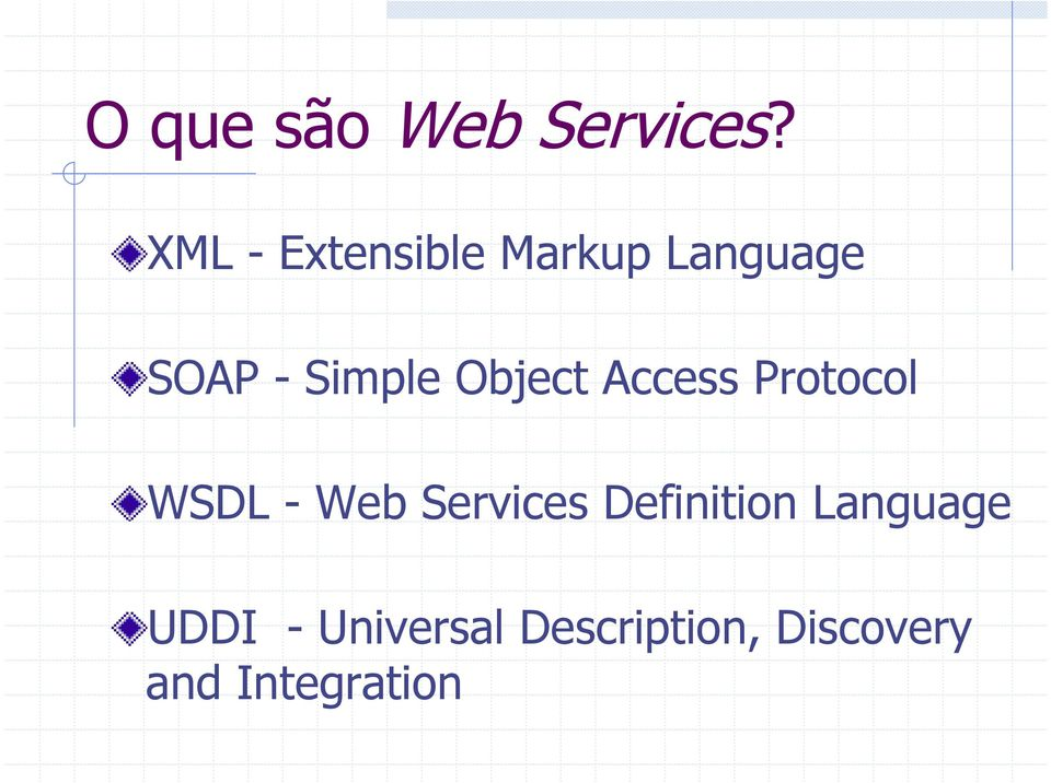 Object Access Protocol WSDL - Web Services
