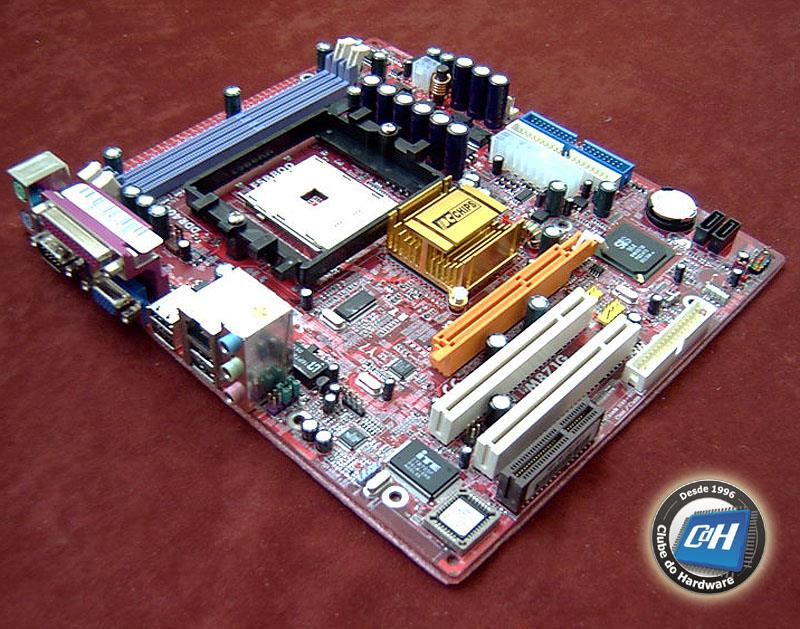 Motherboard do PC CPU constituída