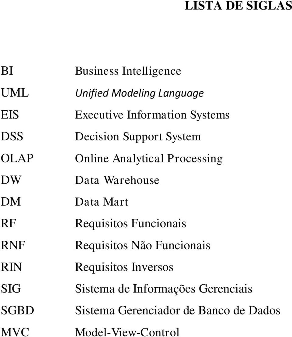 Analytical Processing Data Warehouse Data Mart Requisitos Funcionais Requisitos Não Funcionais