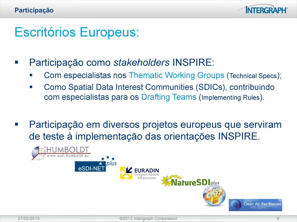 contribuindo com especialistas para os Drafting Teams (Implementing Rules).