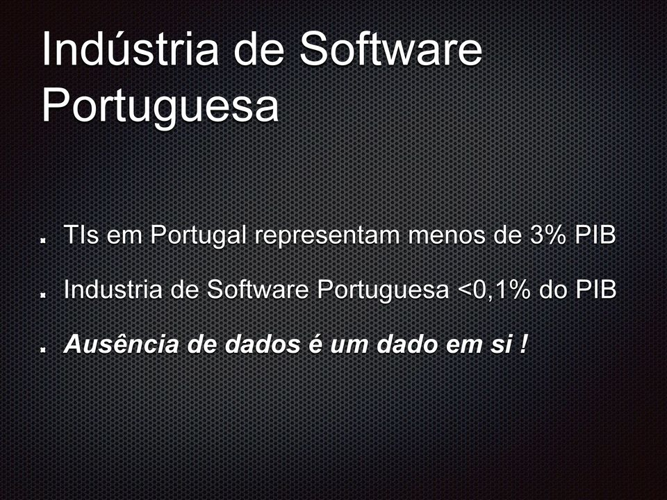 Industria de Software Portuguesa <0,1%
