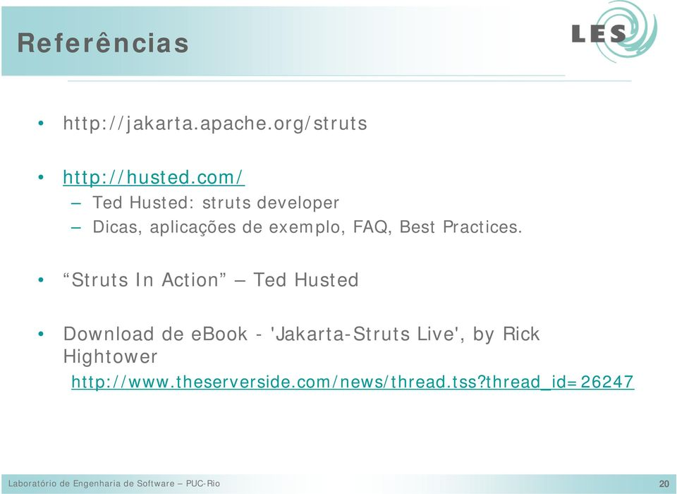 Struts In Action Ted Husted Download de ebook - 'Jakarta-Struts Live', by Rick