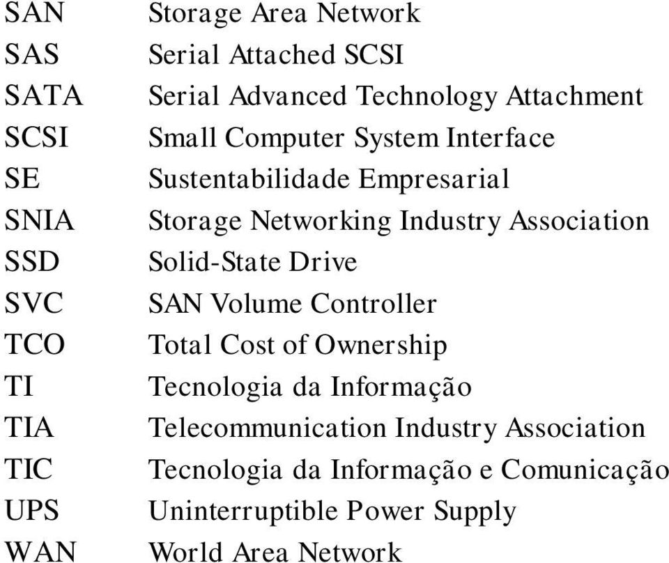 Industry Association Solid-State Drive SAN Volume Controller Total Cost of Ownership Tecnologia da Informação
