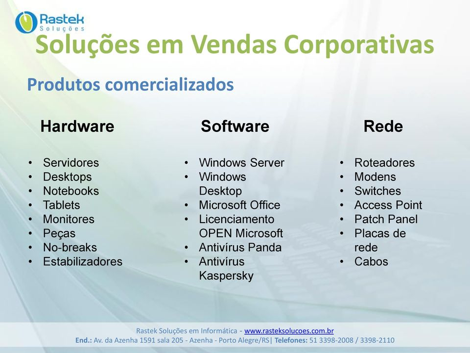 Windows Server Windows Desktop Microsoft Office Licenciamento OPEN Microsoft Antivírus