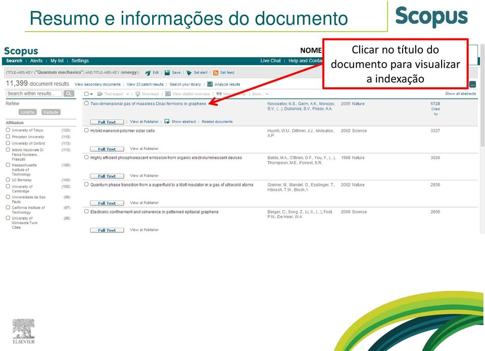 do documento para