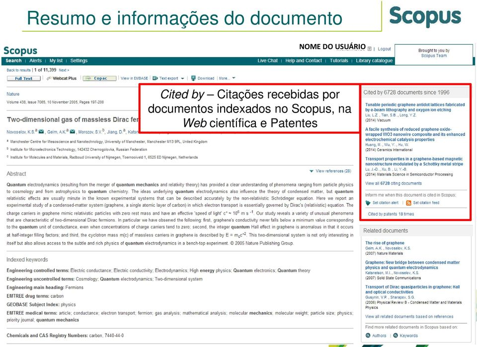 recebidas por documentos indexados