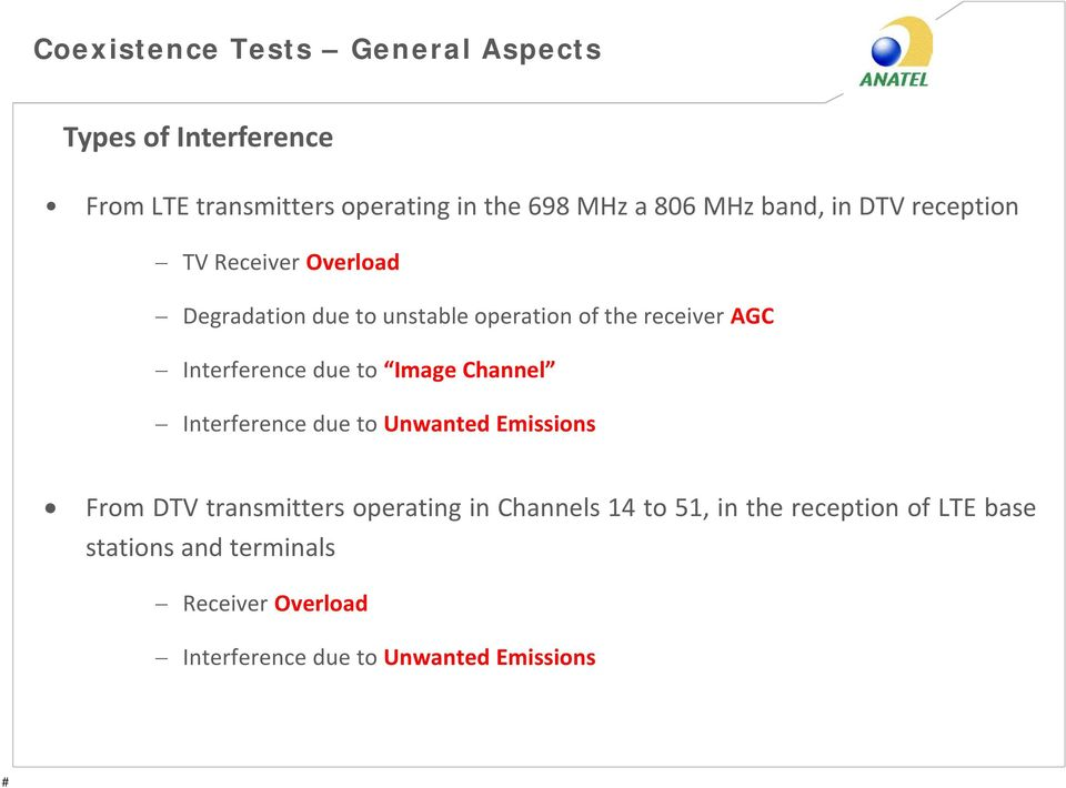 Interference due to Image Channel Interference due to Unwanted Emissions From DTV transmitters operating in