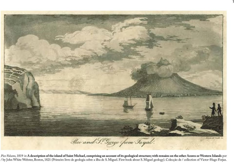 Western Islands por / by John White Webster, Boston, 1821 (Primeiro livro de geologia sobre a