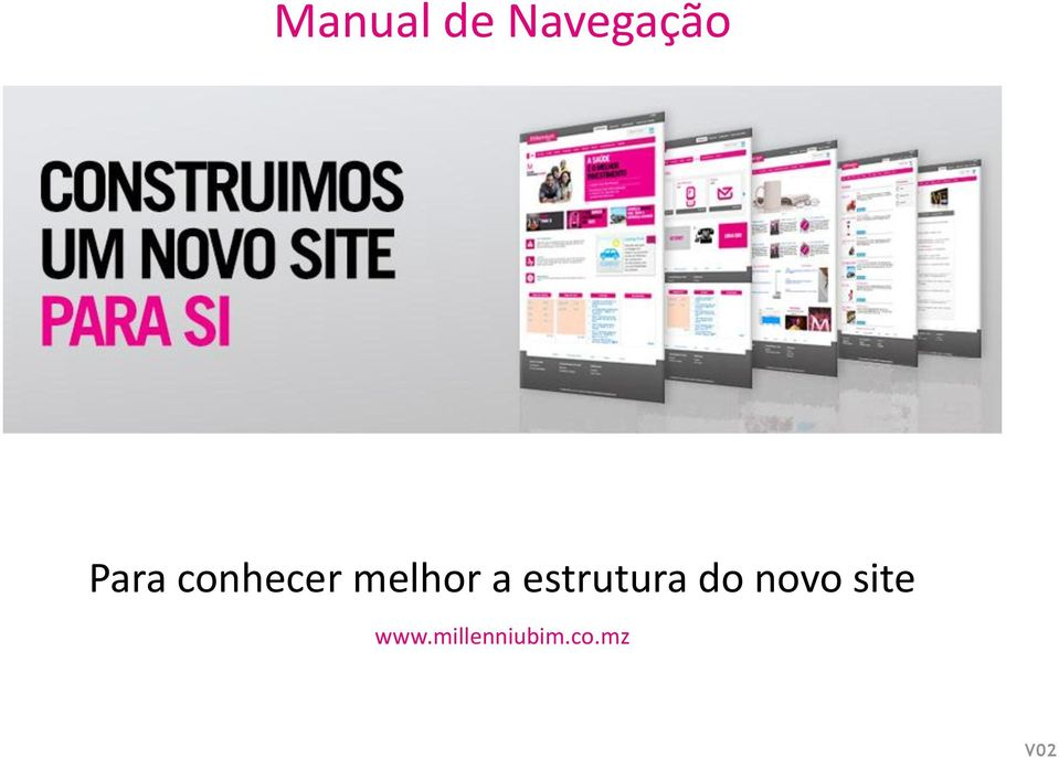 estrutura do novo site