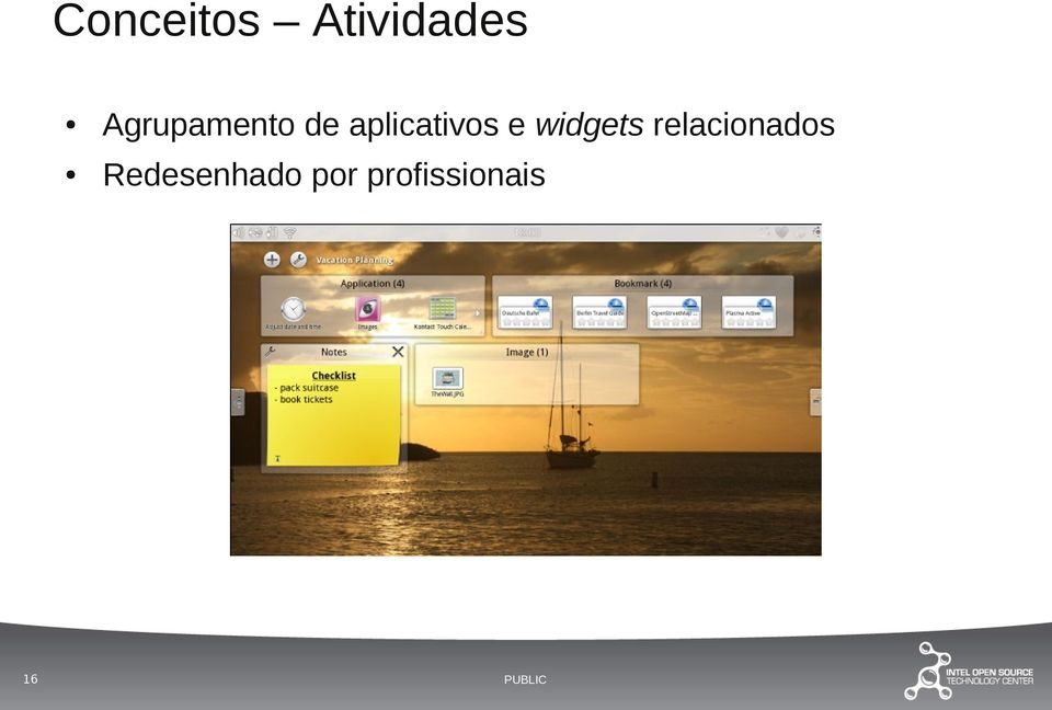 aplicativos e widgets