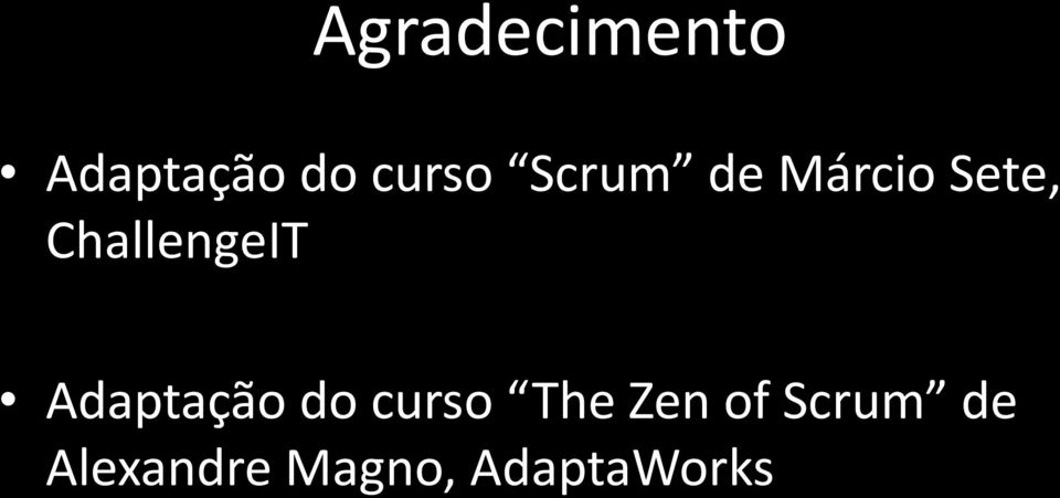 Adaptação do curso The Zen of