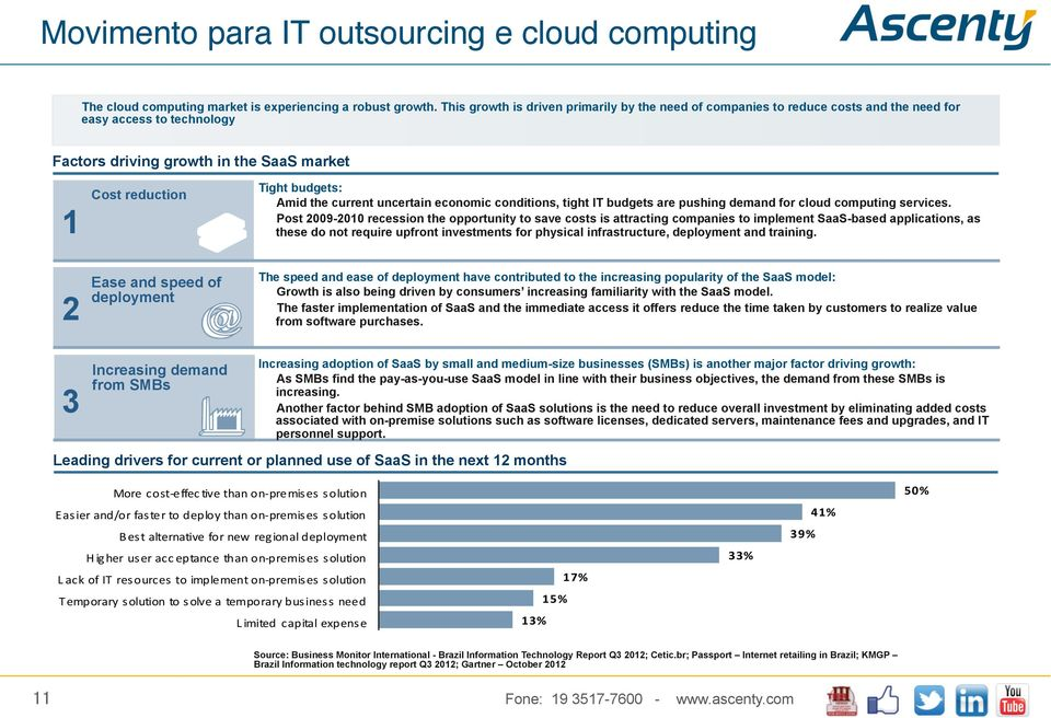 the current uncertain economic conditions, tight IT budgets are pushing demand for cloud computing services.