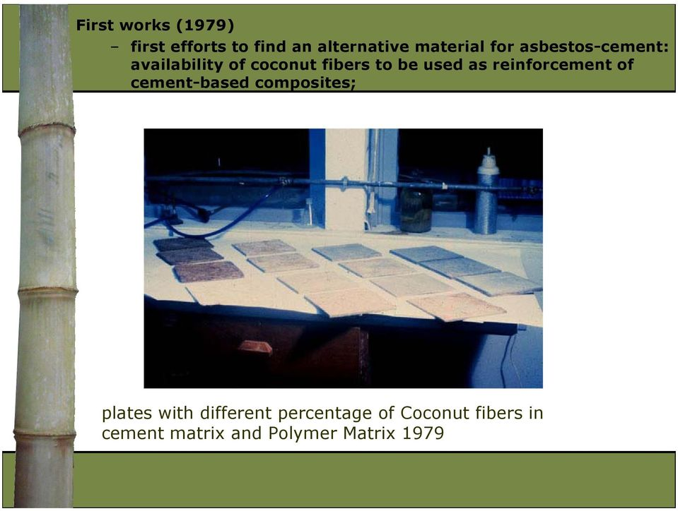reinforcement of cement-based composites; plates with different