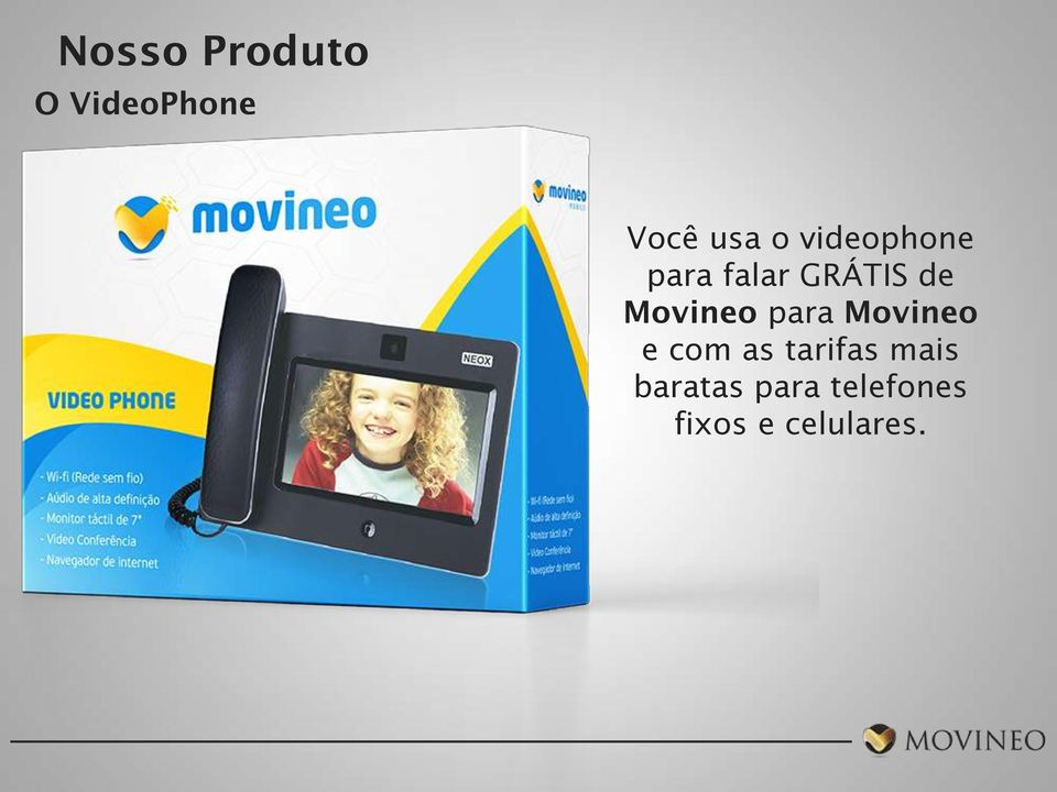 Movineo para Movineo e com as tarifas