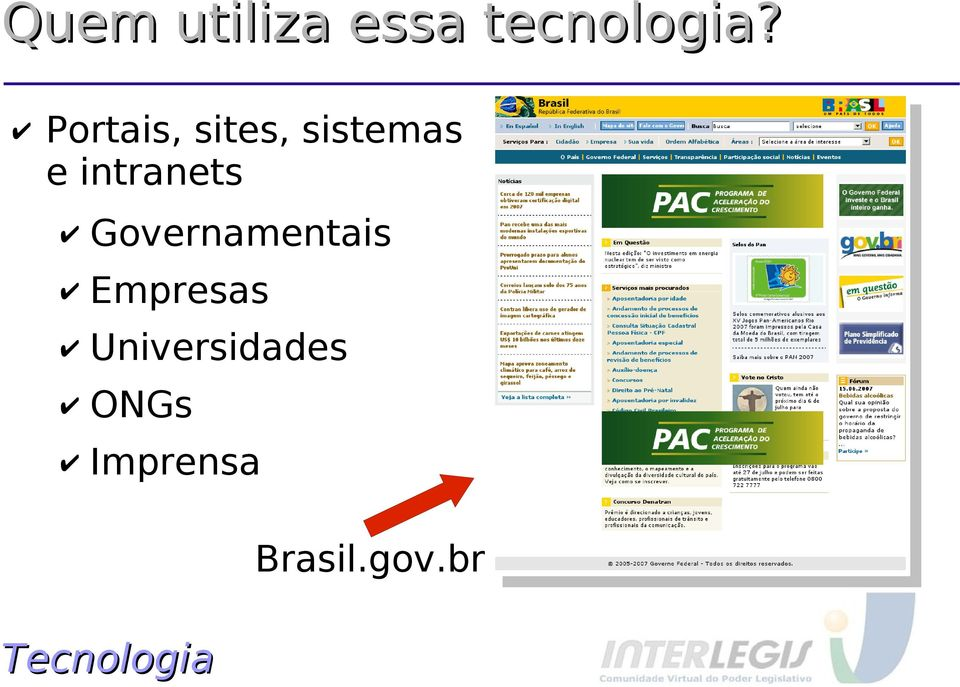 intranets Governamentais Empresas