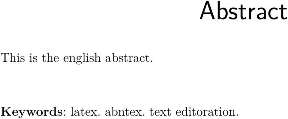 Keywords: latex.