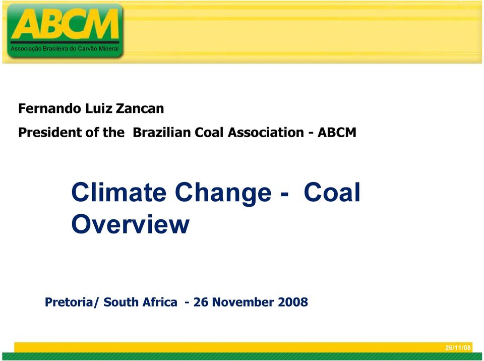 ABCM Climate Change - Coal Overview