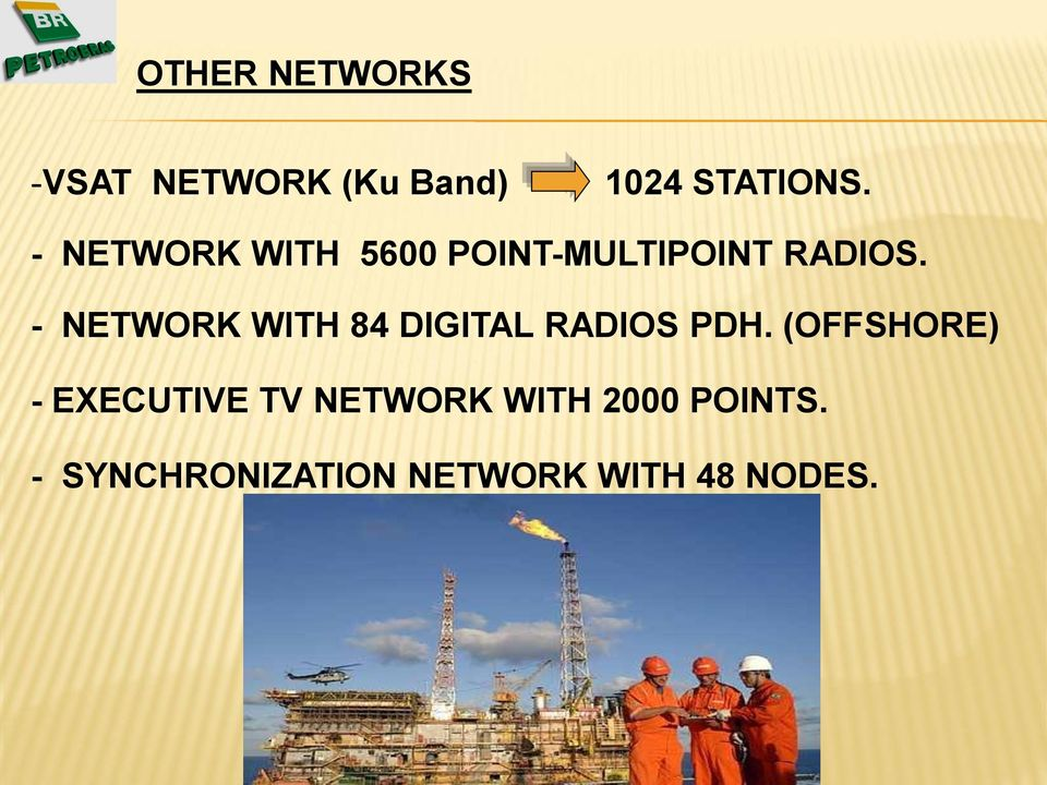 - NETWORK WITH 84 DIGITAL RADIOS PDH.