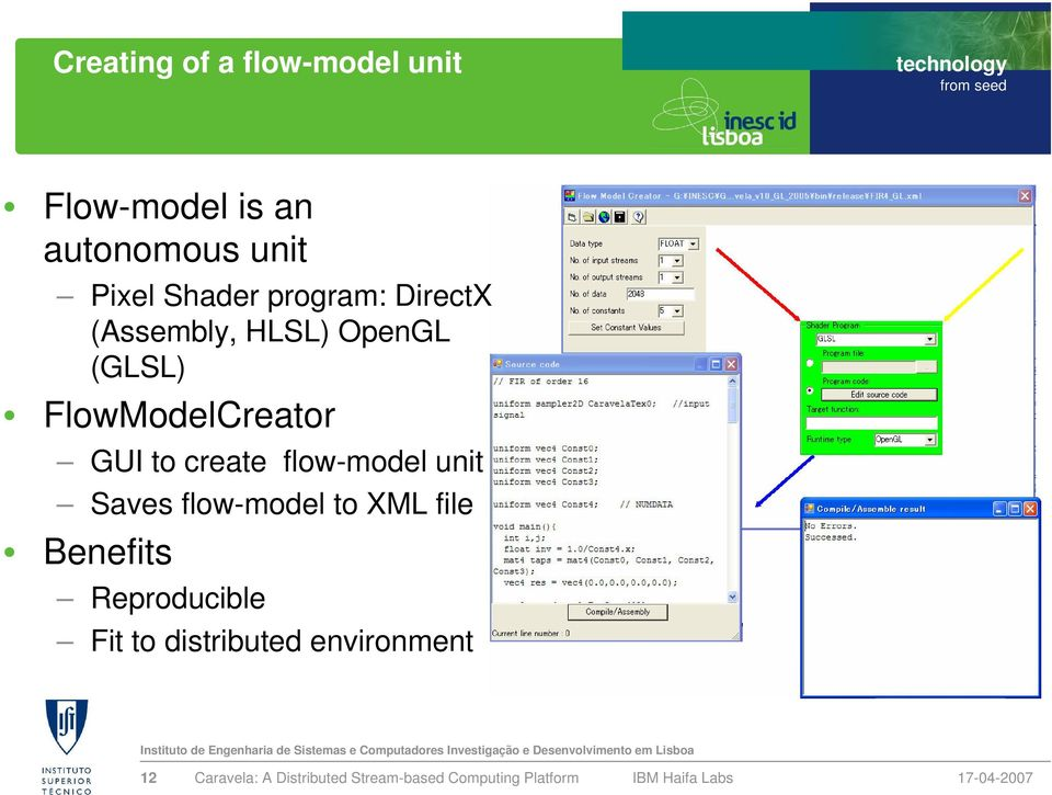 FlowModelCreator GUI to create flow-model unit Saves flow-model
