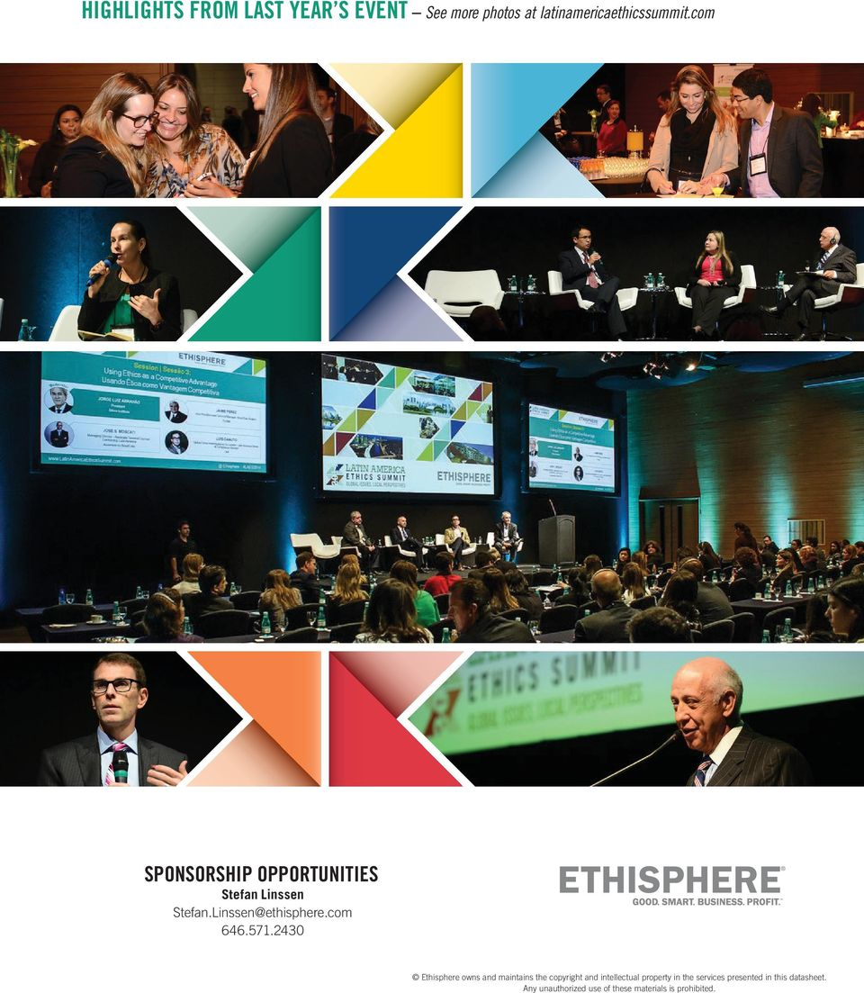 2430 Ethisphere owns and maintains the copyright and intellectual property in the