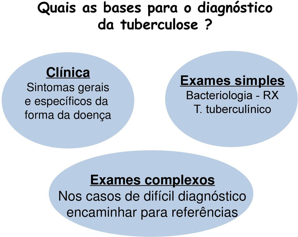 Exames simples Bacteriologia - RX T.