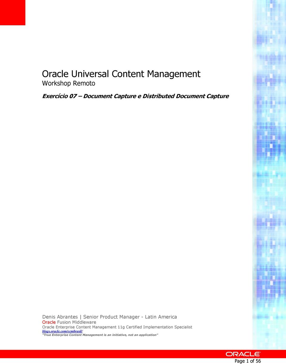 Middleware Oracle Enterprise Cntent Management 11g Certified Implementatin Specialist blgs.