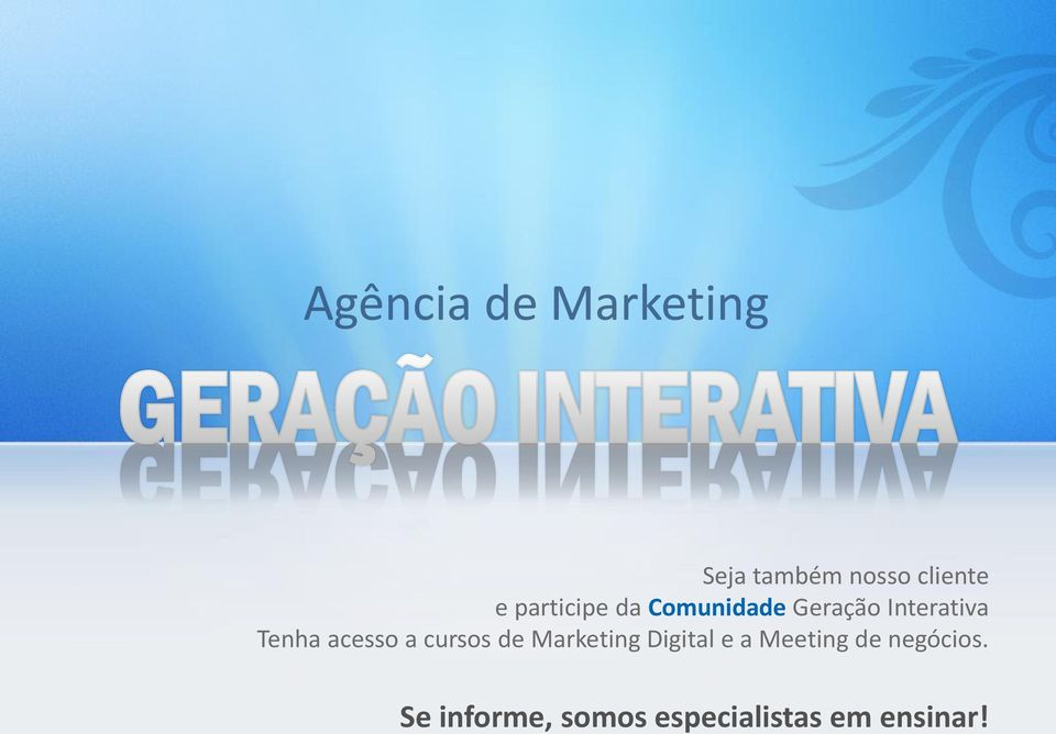cursos de Marketing Digital e a Meeting de