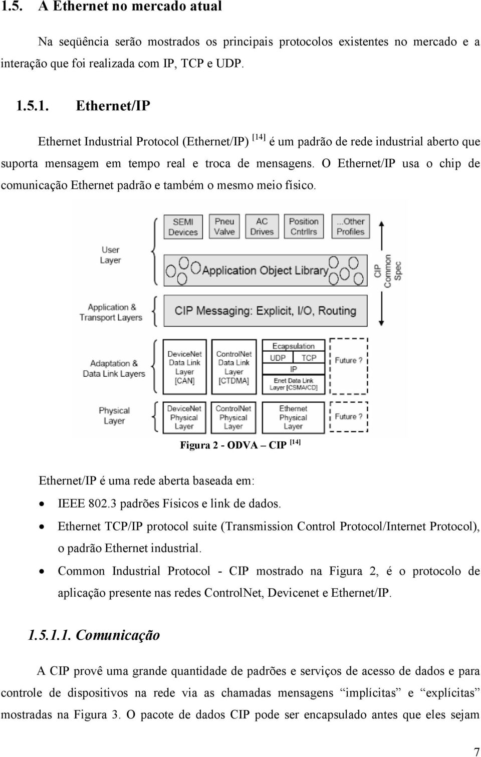 Ethernet TCP/IP protocol suite (Transmission Control Protocol/Internet Protocol), o padrão Ethernet industrial.