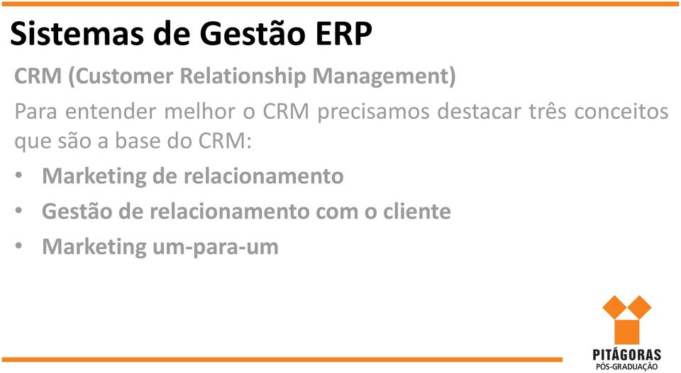 CRM: Marketing de relacionamento Gestão de