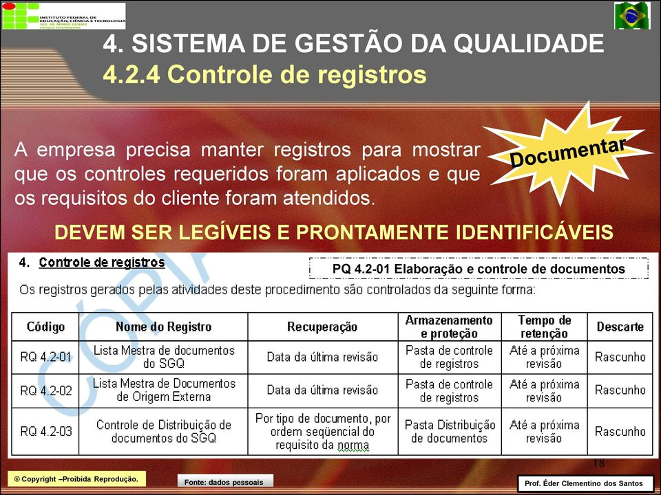 que os controles requeridos foram aplicados e que os requisitos do cliente