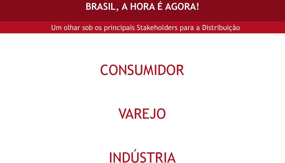 Stakeholders para a