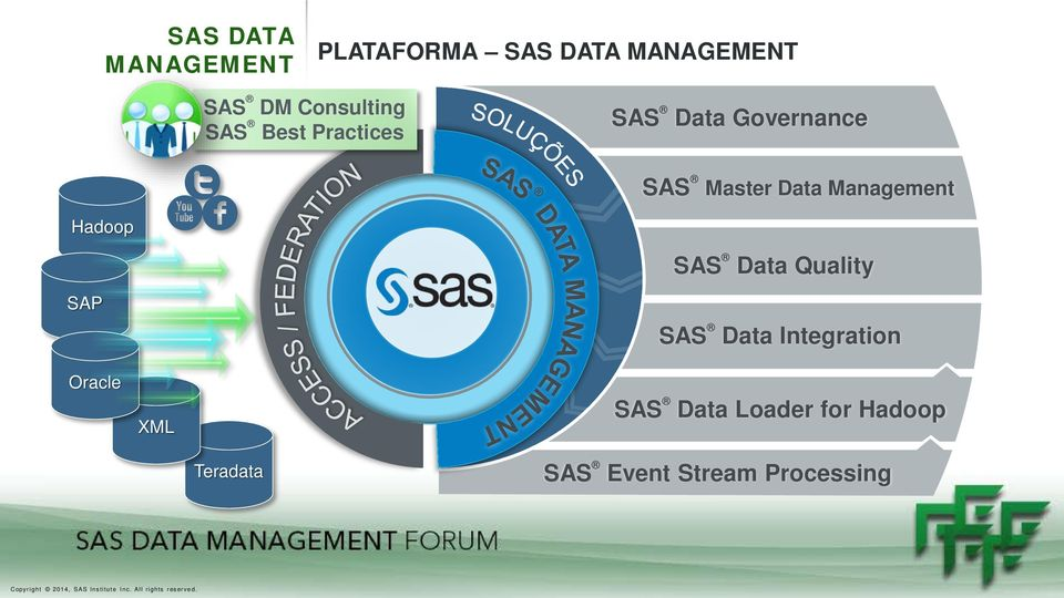 Data Management Hadoop SAS Data Quality SAP Oracle XML SAS Data