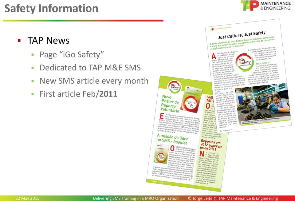 TAP M&E SMS New SMS article