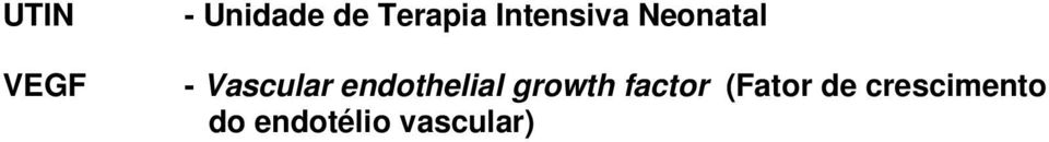 endothelial growth factor (Fator